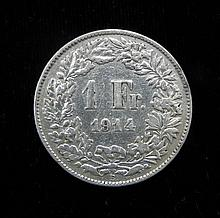 1914 France Silver Franc