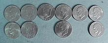 10 Different Date Uncirculated Eisenhower Dollars