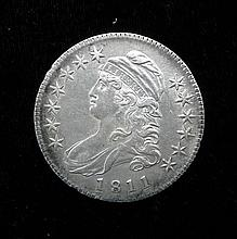 1811 AU - Unc Capped Bust Rare Silver Half Dollar