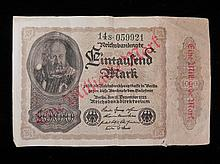 Very Rare German Paper Money 1922 Overstamped