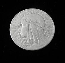 High Grade Poland 10 Zlotych -1932 Silver Maiden Coin