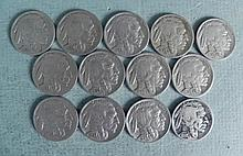 12 High Grade Full Date Buffalo Nickels Most Mint Marks
