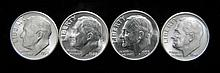 4 Choice Gem Unc Different Date Roosevelt Dimes