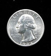 1932 Washington Silver Quarter Gem Uncirculated Rare