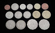 Lot of New Zealand & Australian Coins 1966-94 Many UNC