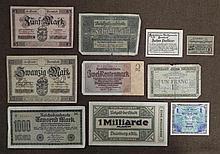 10 GERMAN CURRENCY ORIGINAL PCS-EARLY 1900'S
