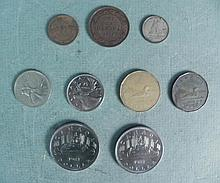 1 Lot of 9 Canadian Coins