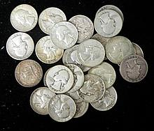 26 Dates Washington Silver Quarters 1934-1964 All Nice