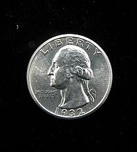1932 Gem Unc Choice Washington Silver Quarter Rare