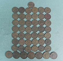 1 Lot of 50 Coins 20/25 Centavos Mexican 40's 50's 60's
