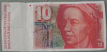 Switzerland 10 Franc Note 1986
