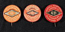 3 Shapleigh Hardware Co. Antique Pinback Buttons 1899