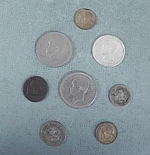 Lot 8 Old Belgium Coins Some Silver