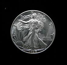 1938-D Gem Unc Walking Liberty HalfDollar Key Date Rare