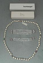 Bracelets & Necklace Jewelcraft Crystal & Carolee Pearl