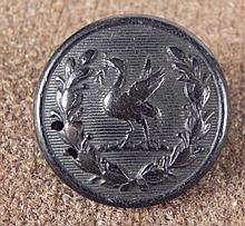 Firmin London Antique Rubber Button w/ Bird 1800s