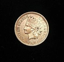 1901 Unc Indian Head Cent