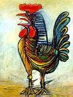 Rooster by Picasso-Numbered Giclee 26x20 On Canvas