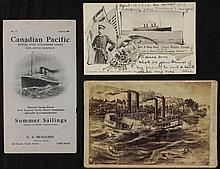 3 Antique Boat Items Scioto Disaster, Kronprinz Wilhelm