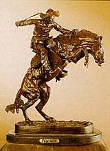 Bronco Buster-Bronze By Remington-Vintage Recast