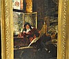 Antique painting o/c Max Volkhart 19th cent.