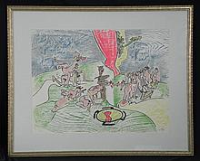 Roberto Matta Signed Art Print Framed