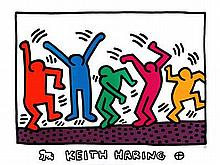 Keith Haring Art Print Untitled (Dancers)