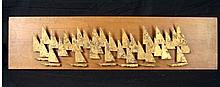 Peter Pepper Sailboats Metal Relief Wall Art
