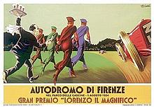 Gavina Vintage Advertising Autodromo di Firenze Print