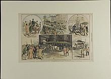 Antique Print Street-Car Strike Chicago Harpers 1888