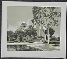 Merv Corning Signed Artist Proof Print Church Monastery
