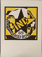 Robert Indiana Art Print Self Portrait 69 Skid Row