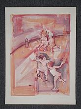 Marcia Marx Signed Proof Art Print Hop Scotch