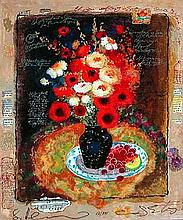 Alexander and Wissotzky Colorful Bouquet Serigraph S/N