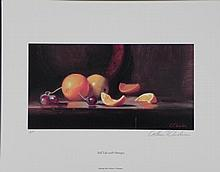 William Chambers Signed AP Art Print Still Life Oranges