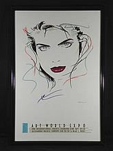 Dennis Mukai Art World Expo Original Poster Framed 1988
