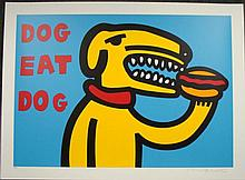 MARCO Pop Art DOG EAT DOG BLUE Print Wild and Wacky