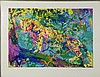 LeRoy Neiman Signed Art Print Trial Proof Ocelot 1973