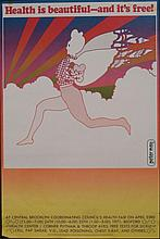 Peter Max Art Poster Health is Beautiful and its Free