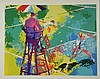 LeRoy Neiman Signed Tennis Art Print Sudden Death 1973