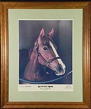 Tony Leonard Print Kentucky Derby Winner Genuine Risk