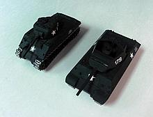 2 WWII US TANK DESTROYERS SOLIDO/FRANCE-DIECAST METAL