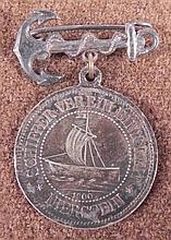 1900 IMPERIAL GERMAN NAVAL MEDAL-SILVER