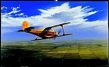 Aviation Art Wichita Classic Buckland Beech Staggerwing