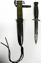 WWII USM3 FIGHTING KNIFE (IMPERIAL) & USM8 SHEATH