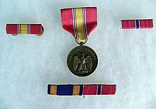 NAT'L DEFENSE MEDAL & BAR-AIR MEDAL & BRONZE STAR BAR