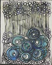 Susan Wangler Original Psychedelic Watercolor Painting