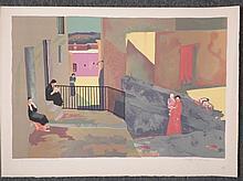 Dorothy D. Dennison Signed Artist Proof European Scene