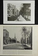 2 Antique Prints Chicago Michigan Ave. 19th Century