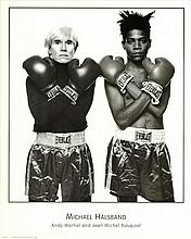 Michael Halsband Warhol and Jean Basquiat Rare Poster